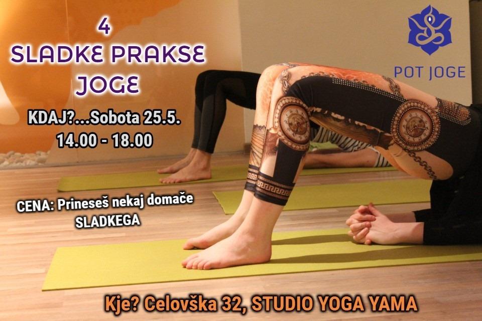 4 sladke prakse joge (sobota, 25.5.)