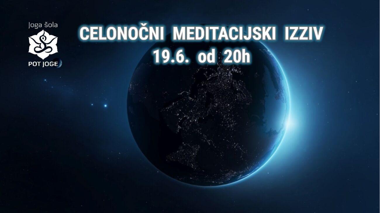 Celonočni meditacijski izziv Pot joge 2021